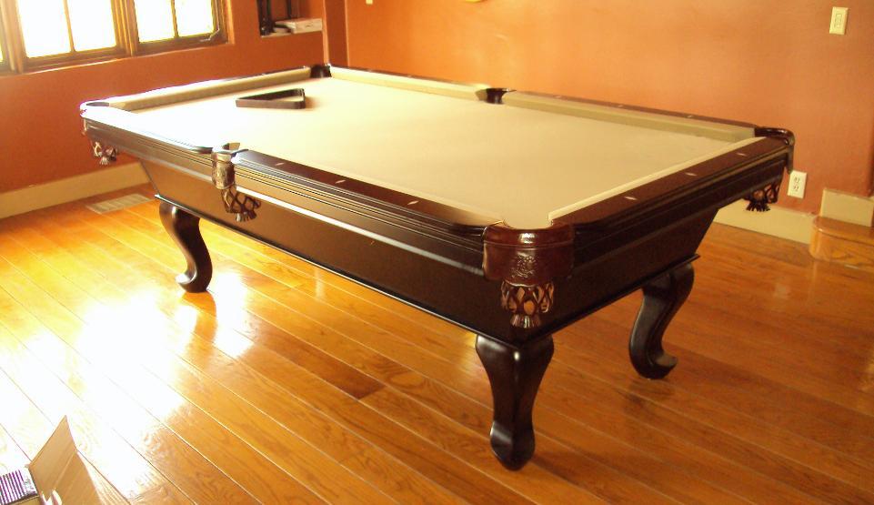 TIBURONMAHOGANYPOOLTABLE - Tiburon pool table